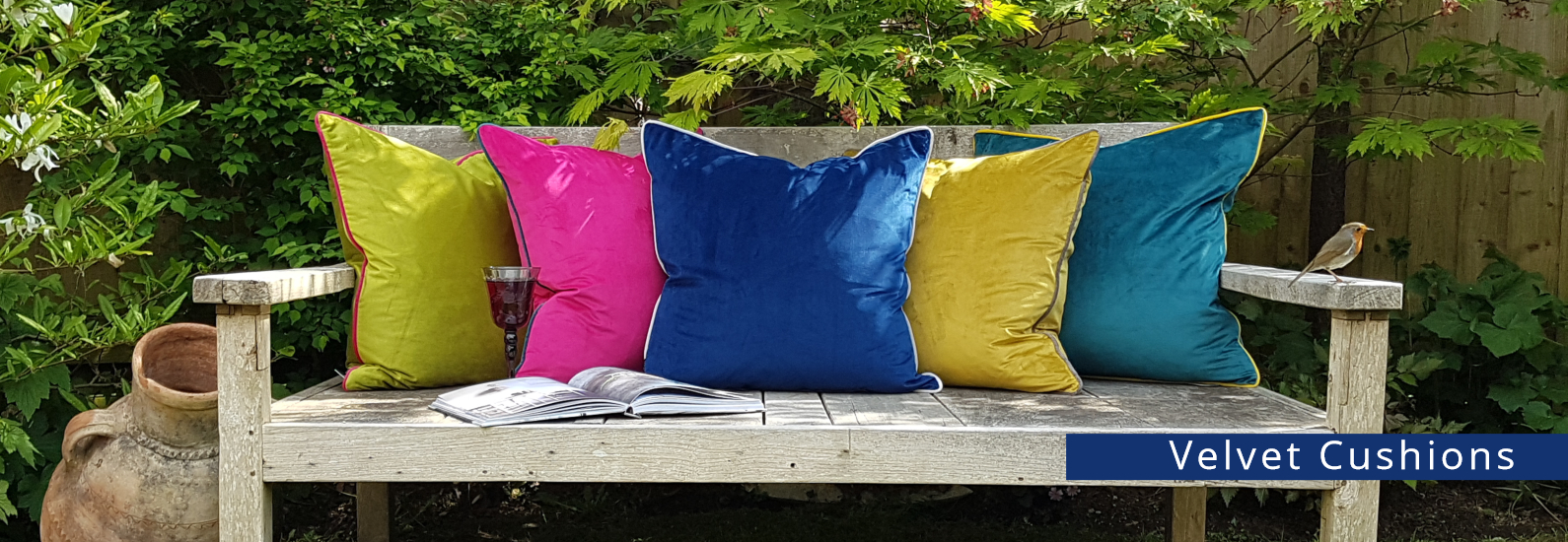 Velvet Cushions Feather Filled Cushions